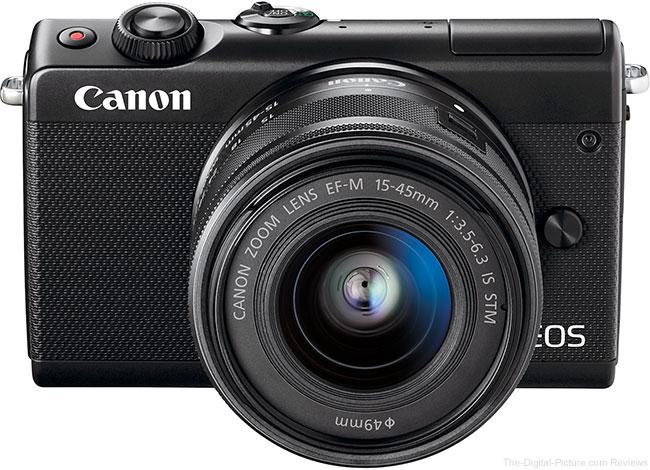 Canon EOS M100 Top Angle