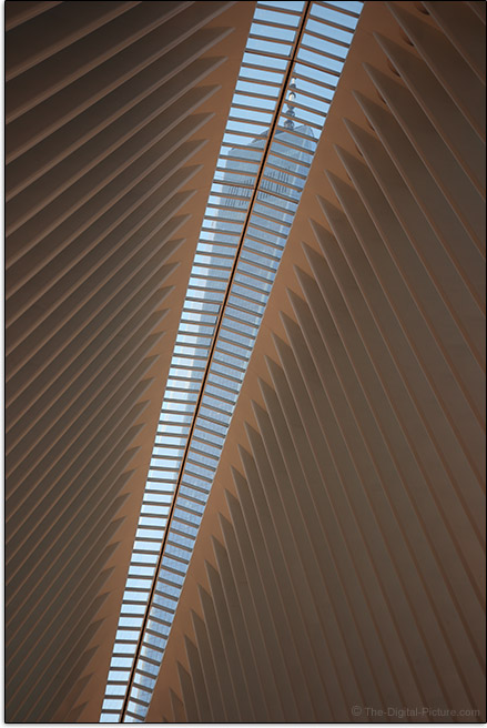 Canon EOS M100 One World Trade Center Transportation Through Oculus Roof Sample Picture