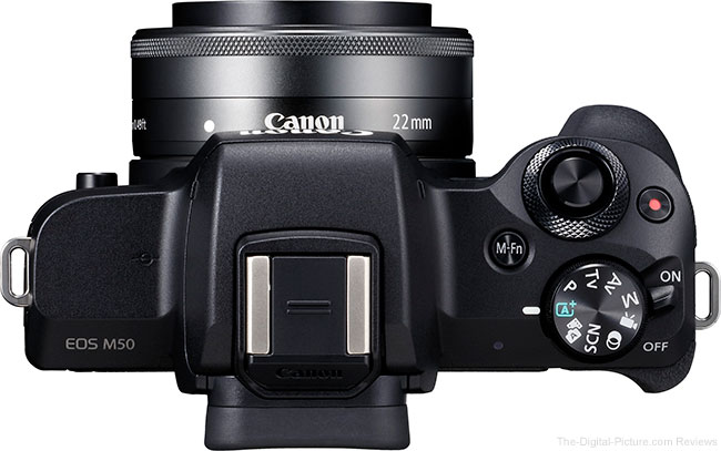 Canon EOS M50 Angle with EF-M 22mm Lens