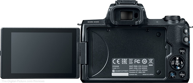 Canon EOS M50 LCD Out Rear View