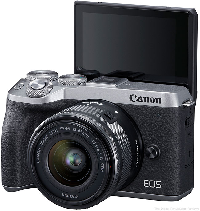 Canon EOS M6 Mark II LCD Open Front