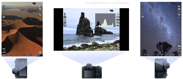 Canon EOS R EVF Display Rotation