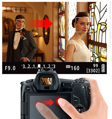 Canon EOS R Touch and Drag AF