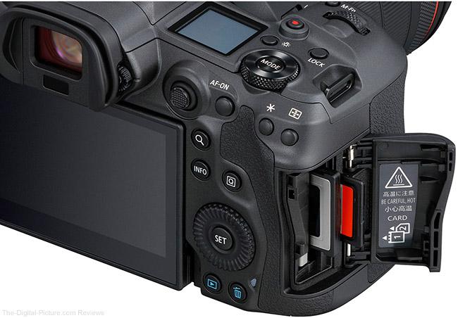 Canon EOS R5 Memory Card Door Open