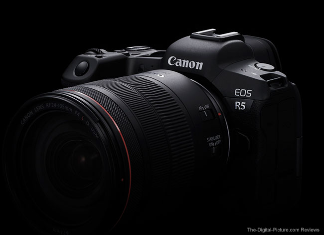 Canon EOS R5 Side Angle on Black