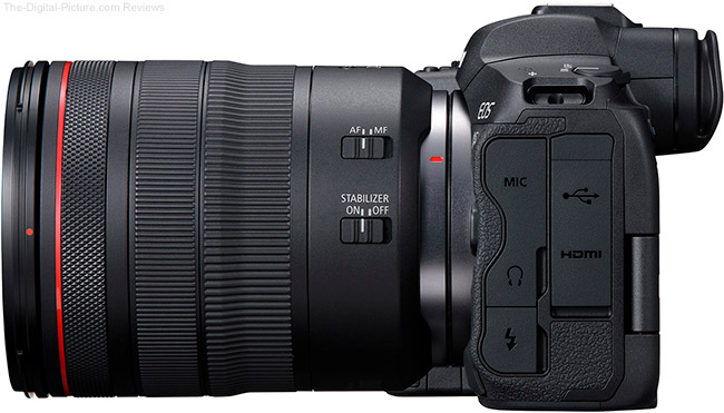 Canon EOS R5 Left Side