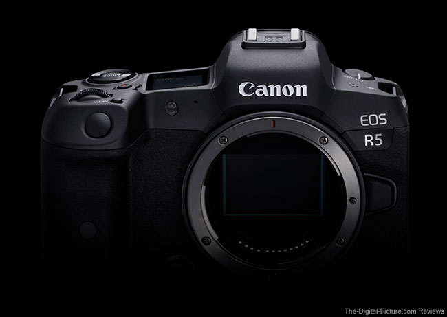 Canon EOS R5 Top Angle on Black