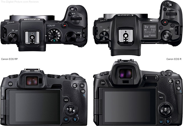 Mirrorless Camera Comparison: Canon EOS R Compared to EOS RP