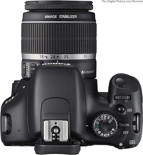 Canon EOS Rebel T2i / 550D Top View with Lens