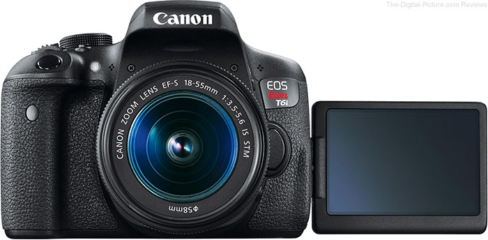 Canon EOS Rebel T6i / 750D Vari-Angle LCD Example