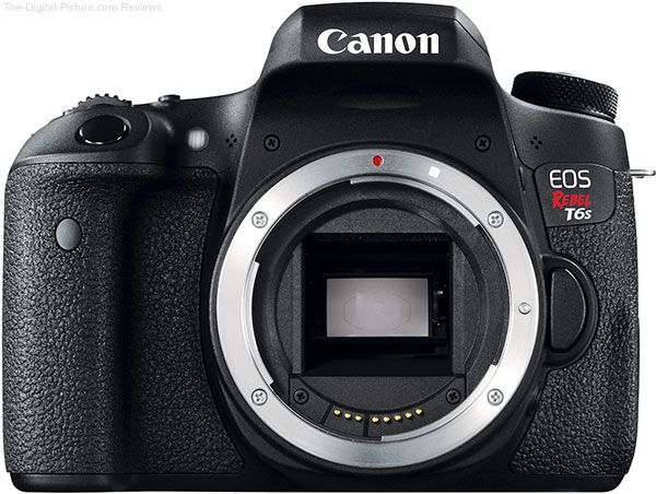 Canon EOS Rebel T6s Front View without Lens