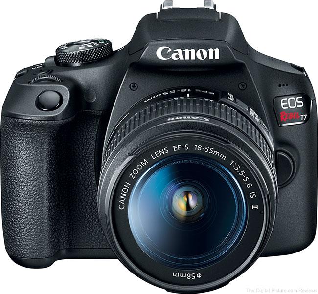 Canon EOS Rebel T7 Angle