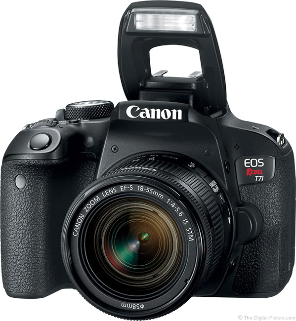 Canon EOS Rebel T7i / 800D with Flash Up