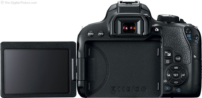 Canon EOS Rebel T7i / 800D LCD Open Back