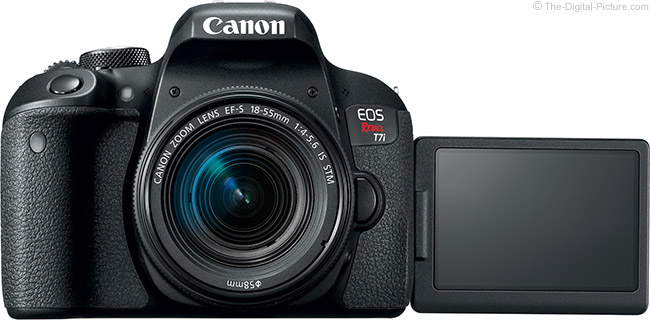 Canon EOS Rebel T7i / 800D LCD Open Front