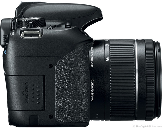 Canon EOS Rebel T7i / 800D Right Side