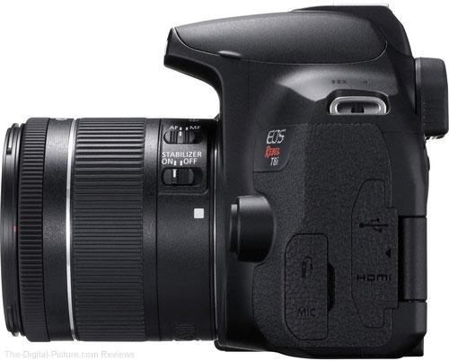 Canon EOS Rebel T8i / 850D Left Side