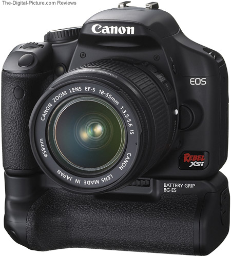 Canon EOS Rebel XSi 450D Digital SLR Camera with Canon BG-E5 Battery Grip