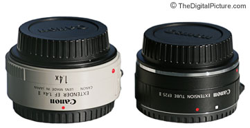 Canon Extender and 25mm Extension Tube Comparison Picture