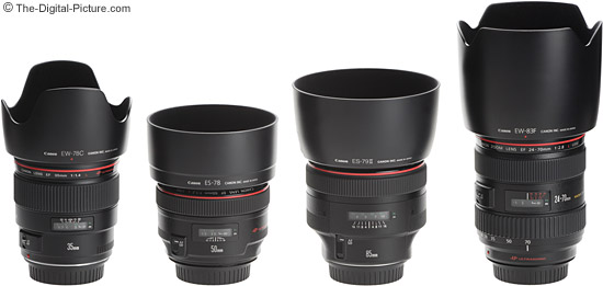 Canon L Lens Size Comparison With Hoods