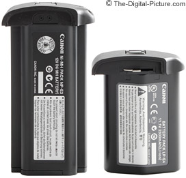 Canon LP-E4 and NP-E3 Battery Comparison