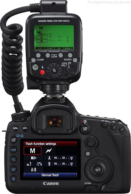 Canon Macro Ring Lite MR-14EX II Flash Info