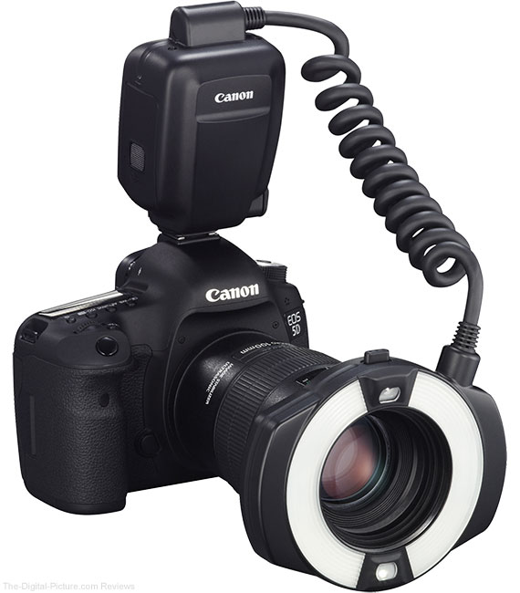 Canon Macro Ring Lite MR-14EX II Flash On Camera