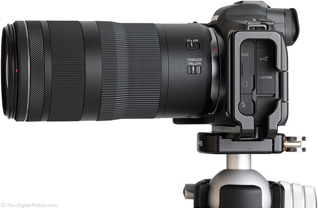 Canon RF 100-400mm F5.6-8 IS USM Lens Side View