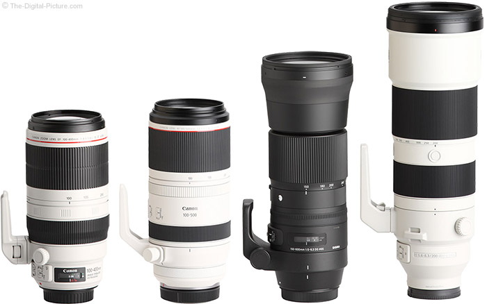 Canon RF 100-500mm F4.5-7.1 L IS USM Lens Compared to Similar Lenses