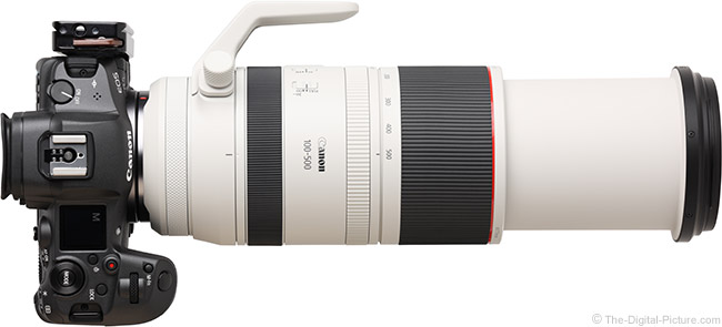 Canon RF 100-500mm F4.5-7.1 L IS USM Lens Extended Top View