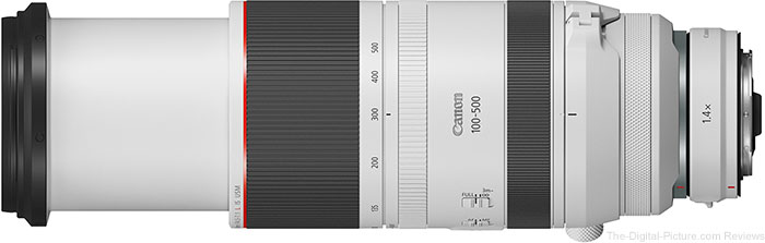 Canon RF 100-500mm F4.5-7.1 L IS USM Lens with Extender