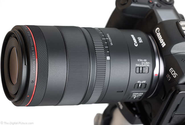 Canon RF 100mm F2.8 L Macro IS USM Lens Angle View