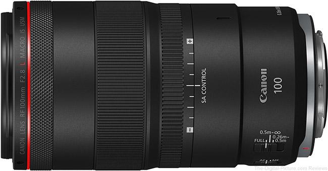 Canon RF 100mm F2.8 L Macro IS USM Lens SA Control