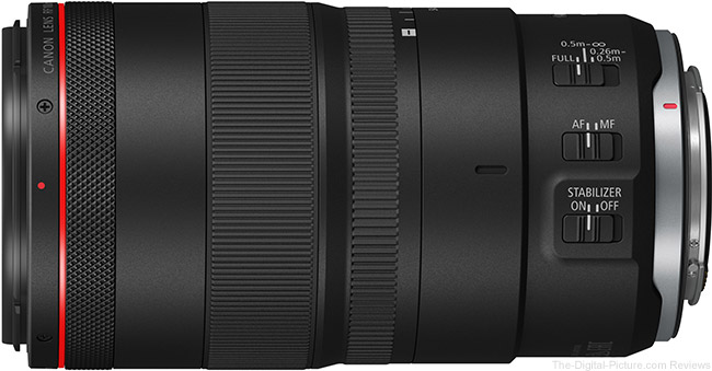 Canon RF 100mm F2.8 L Macro IS USM Lens Switches