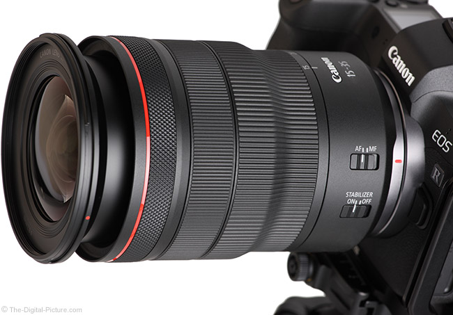 Canon RF 15-35mm F2.8 L IS USM Lens Angle Extended View