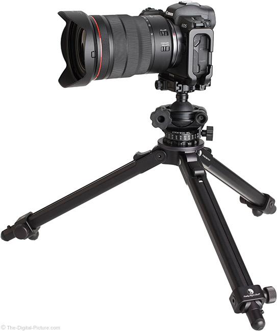 Canon RF 15-35mm F2.8 L IS USM Lens on Tripod