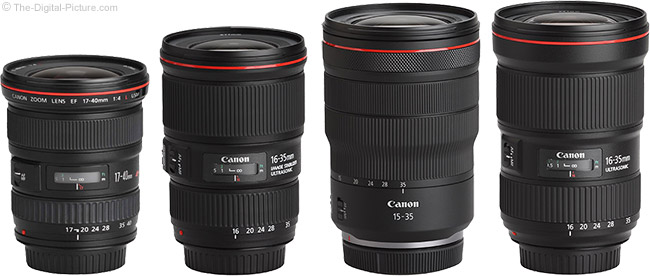 Canon RF 15-35mm F2.8 L IS USM Lens Compared to Similar Lenses