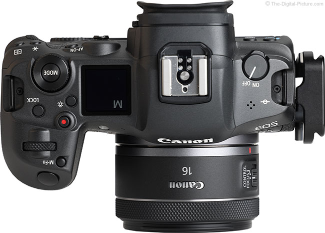 Canon RF 16mm F2.8 STM Lens Top View