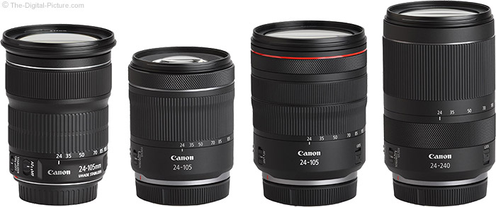 Canon RF 24-105mm F4-7.1 IS STM Lens Compared to Similar Lenses