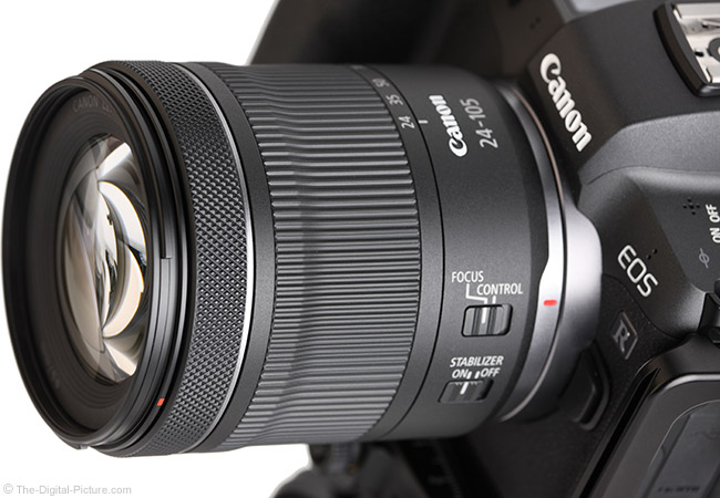 Canon RF 24-105mm F4-7.1 IS STM Lens Angle View