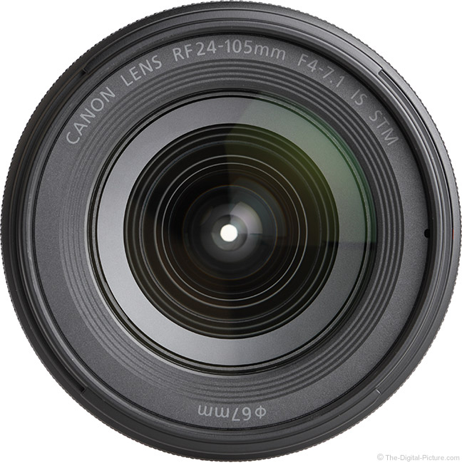 Canon RF 24-105mm F4-7.1 IS STM Lens Front View
