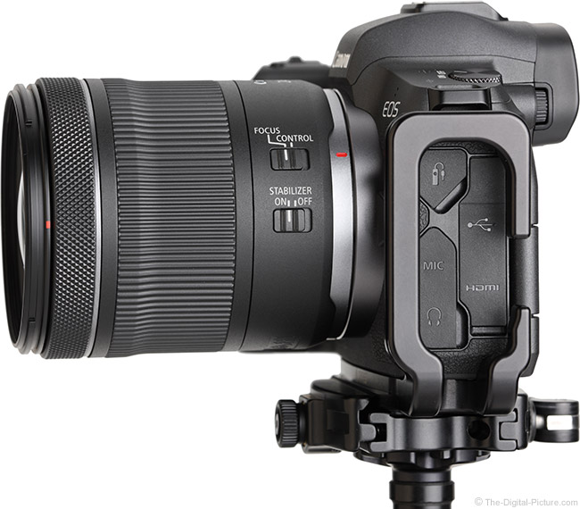 Canon RF 24-105mm F4-7.1 IS STM Lens Side View