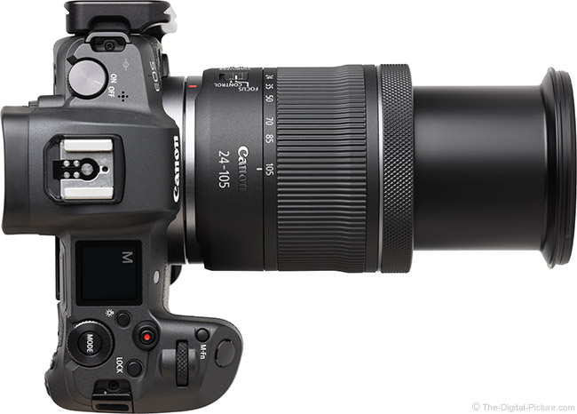Canon RF 24-105mm F4-7.1 IS STM Lens Extended Top View