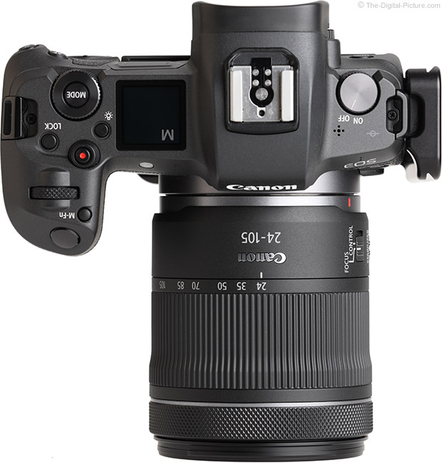 Canon RF 24-105mm F4-7.1 IS STM Lens Top View