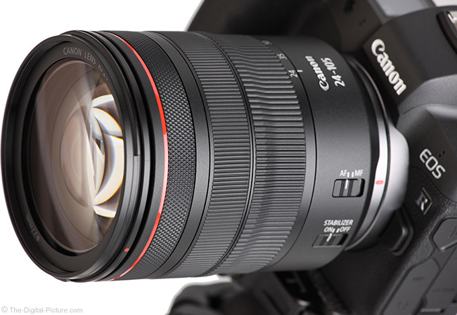 Canon RF 24-105mm F4 L IS USM Lens Angle View