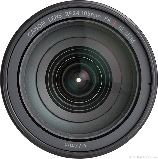 Canon RF 24-105mm F4 L IS USM Lens Front View