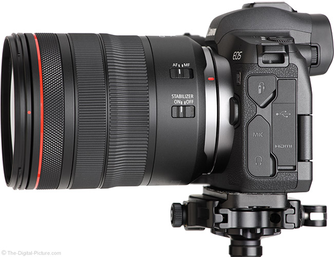 Canon RF 24-105mm F4 L IS USM Lens Side View