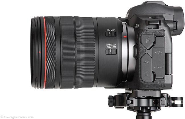 Canon RF 24-105mm f/4L IS USM Lens vs. EF II