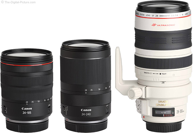 Canon RF 24-240mm F4-6.3 IS USM Lens Compared to Similar Lenses