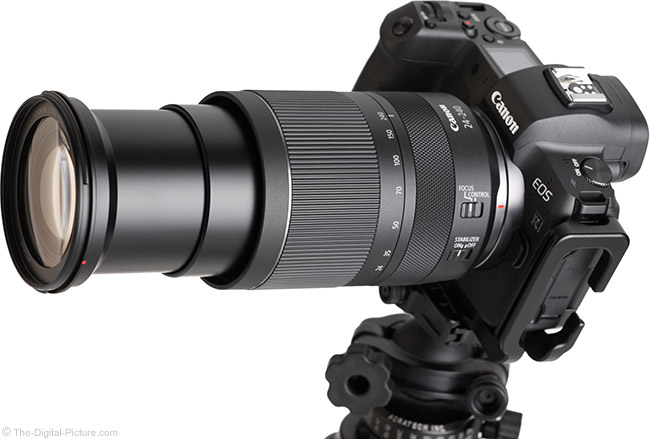 Canon RF 24-240mm F4-6.3 IS USM Lens Angle Extended View